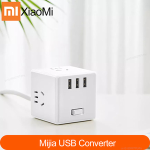 Image 1 - Xiaomi Mijia Adaptador de tira de alimentación 2 en 1, Cargador USB Original, 6 puertos, convertidor de enchufe, ahorro de espacio, enchufe, salida Magic Cube