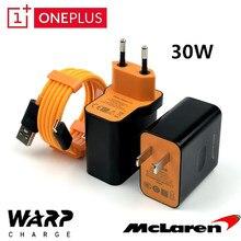 Carregador de warp original oneplus 7t, carregador de carga 30w 5v/6a mclaren, adaptador para oneplus 8 7 7t cabo usb 3.1 pro 6 6t 5 5t 3 3t com 4a nylon
