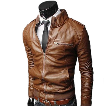 Men Leather Jacket Fashion Autumn Motorcycle PU Leather Male Winter Bomber Jackets Outerwear Biker Cool Faux Leather Coat