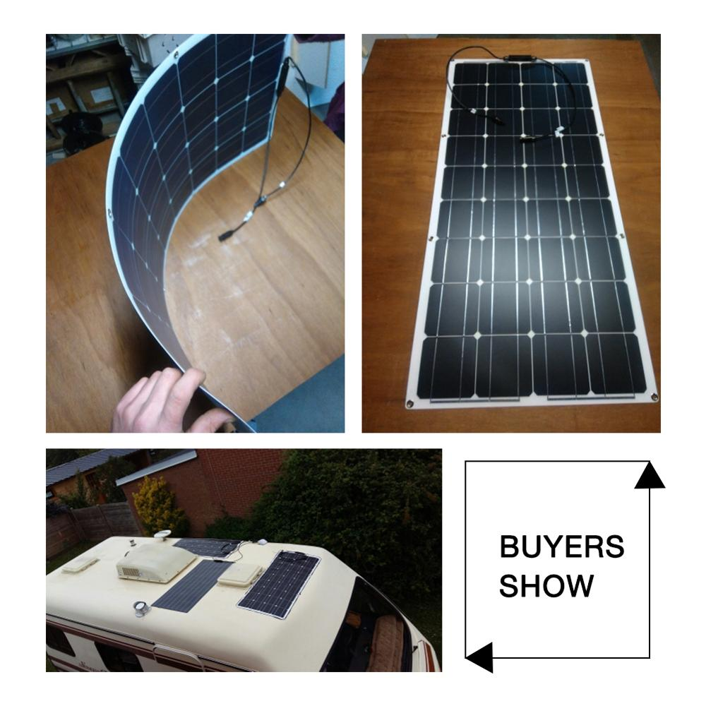 Dokio 12V 100W Flexible Monocrystalline Solar Panel For Car/Boat/ Home Solar Battery Can Charge 12V Waterproof Solar Panel China 5