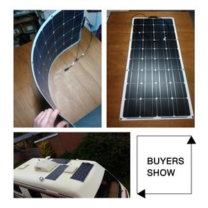 Image 5 - Dokio 12V 100W Flexible Monocrystalline Solar Panel For Car/Boat/ Home Solar Battery Can Charge 12V Waterproof Solar Panel China