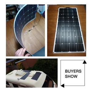 Image 5 - Dokio 12V 100W גמיש Monocrystalline פנל סולארי עבור רכב/סירה/בית שמש סוללה יכול תשלום 12V עמיד למים פנל סולארי סין