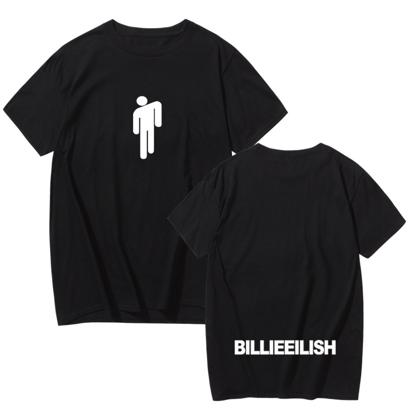 Billie Eilish T Shirt Print Funny Men Male/women Tee Shirts Casual 2019 T-shirt Tshirt O-Neck Fashion Hip Hop Summer Streetwear