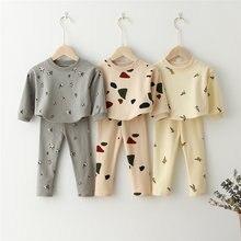 Crianças conjuntos de roupas moletom tops + calças primavera da criança meninos meninas roupas crianças agasalho pijamas do bebê crianças meninos roupas