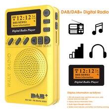 미니 포켓 dab 디지털 라디오 fm 수신기 rds 휴대용 mp3 플레이어 lcd 디스플레이 화면 지원 tf 카드 잠자는 시간 설정