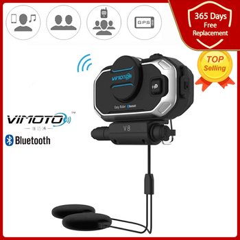 Easy Rider Vimoto V8 Motorbike BT Interphone Motorcycle Bluetooth Helmet Intercom Stereo Headset for Cell Phone GPS 2 Way Radios