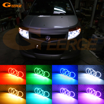 For proton savvy 2005-2010 Excellent RF Bluetooth Controller Multi-Color Ultra bright RGB LED Angel Eyes kit