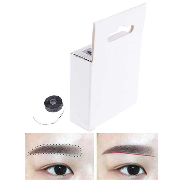 Pre-Inked Brow Mapping Strings Pigment String Brow Mapping Thread For Eyebrow Permanent Makeup For Microblading Accessories