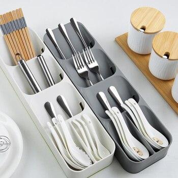 Кухонный лоток для хранения столовых приборов, кухонный держатель для ножей, органайзер, Кухонный Контейнер, хранилище для ложки, вилки, раз...