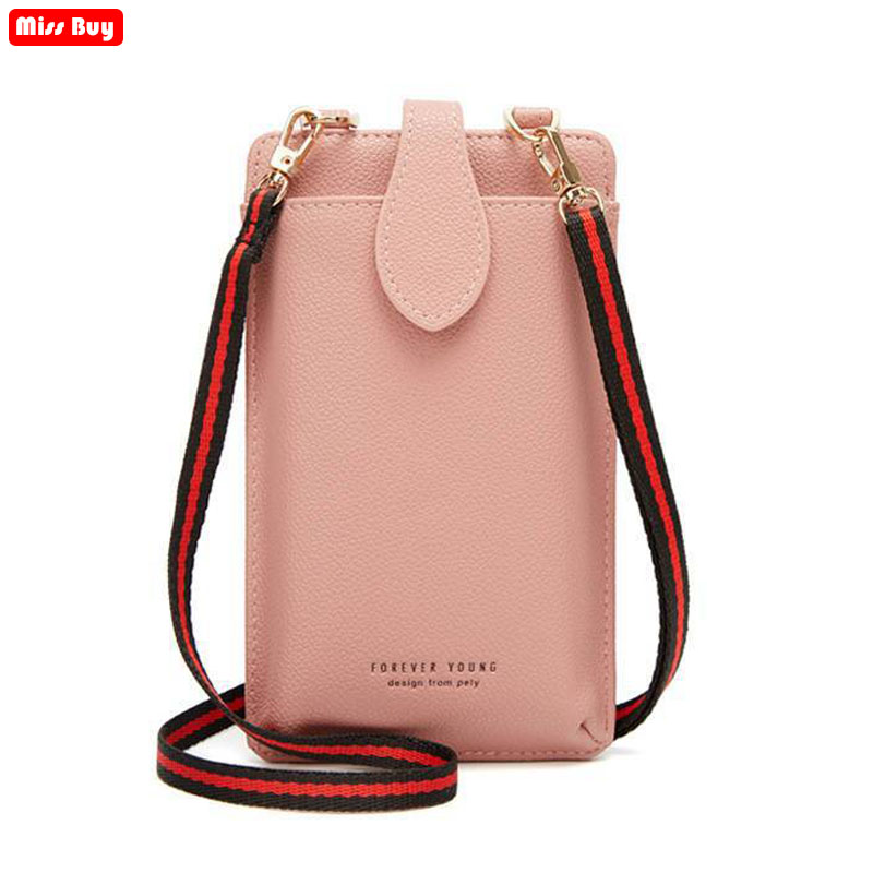 Fashion Universal Leather Mobile Phone Bag Shoulder bags Mini Packet Parcel Phone pouch for Huawei for Samsung for iPhone forHTC