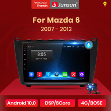 Junsun V1 2G + 32G Android 10 Dsp Auto Radio Multimedia Video Player Voor Mazda 6 2007 2008 - 2012 Navigatie Gps 2 Din Dvd Rds