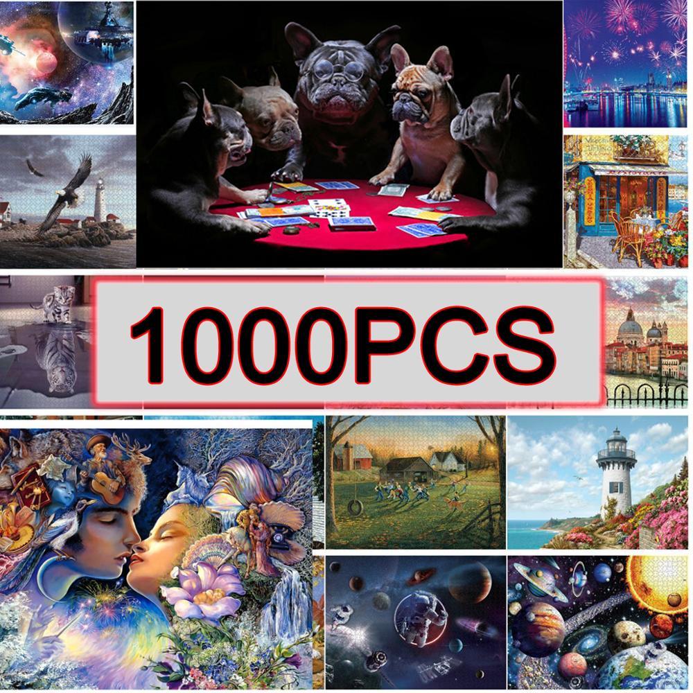 Головоломки 1000 шт. 69x51 см сборки изображения головоломки для взрослых, Обучающие игрушки, пазлы сравнить Adultos