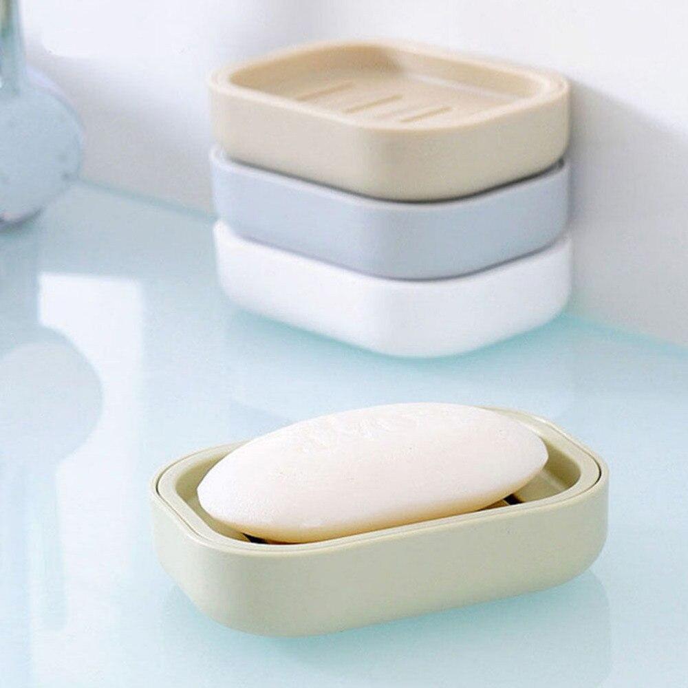 1 шт. Креатив мыло тарелка для ванной двойной слой водонепроницаемый замок протечка мыло держатель коробка с крышкой мыло тарелка чехол контейнер