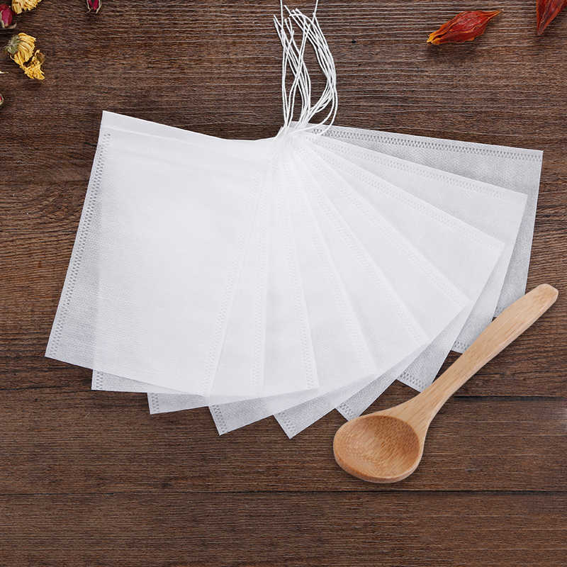 50/100 Pcs/Lot Teabags 5 x 7CM Empty Scented Tea Bags With String Heal Seal Filter Paper for Herb Loose Tea Bolsas de te