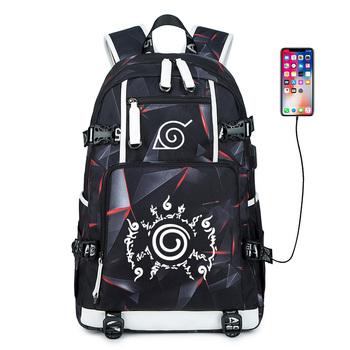 Plecak Anime Naruto plecaki szkolne nastolatki Akatsuki Itachi Sharingan Cosplay chłopcy dziewczęta torby szkolne na laptopy podróż Mochila tanie i dobre opinie LSPAFY Oxford Tłoczenie Unisex Miękka 20-35 litr Wnętrze slot kieszeń Wnętrza przedziału Miękki uchwyt Aplikacje