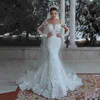 wuzhiyi Mermaid wedding dress 2019 Customise vestido de noiva Cap Sleeves zipper back marriage dress Appliques robe de mariee