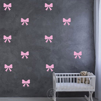 Bow Wall Stickers Baby Girl Wall Decals For Kids Room Bedroom Living Room Home Decoration DIY Stickers Nursery Room Stickers