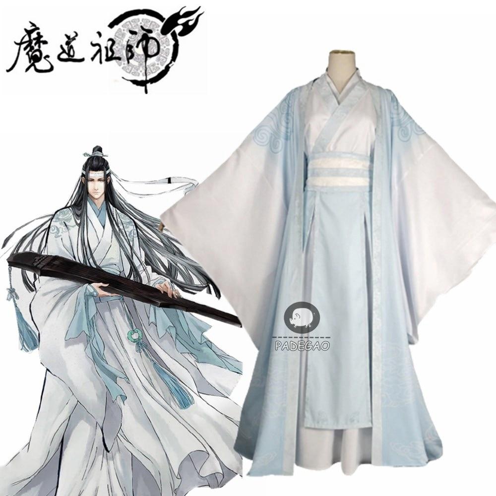 Lan Wangji Cosplay Costume Mo Dao Zu Shi Original Lan Zhan Ancient Costume Wig Wei Wuxian Yiling Patriarch Halloween