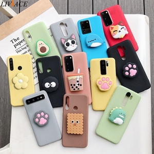 3D silicone cartoon phone holder case for samsung galaxy s20 s20 plus ultra Fe s10 5g s10e lite s9 s8 plus s7 edge stand cover