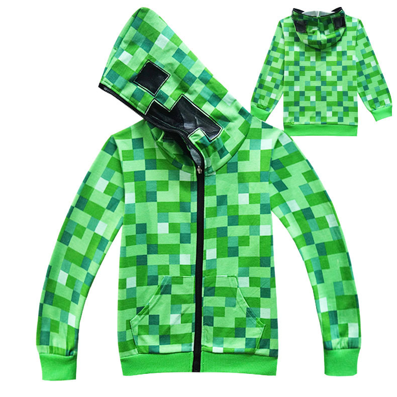Green Plaid Hoodies Boys Coat Girls Overcoat Kids Jacket Spring Autumn Children Boys Jacket Clothes Outerwear
