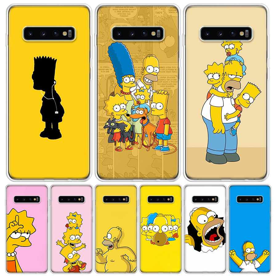 The Simpsons Family Cover Phone Case For Samsung Galaxy A51 A71 A50 A10 A20E A30 A40 A70 M30S A01 A21 A6 A7 A8 A9 Plus + Coque