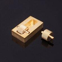 Zuiver Koper Lederen Craft Carving Tools Lederen Craft Rand Dye Olie Naaien DIY Hand Naaien Sets Voor Leer Maken Gereedschap 2 r plastic extension tafel mat mini naaimachine uitbreidingskaart pad voor mini naaimachine binnenlandse naaien accessoires