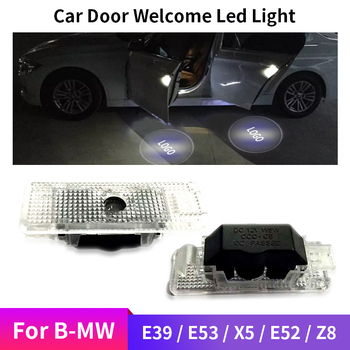 Fit For BMW E39 E53 X5 E52 Z8 2X Car Door Welcome Light LED Lamp Laser Ghost Shadow Projector LOGO Light Decorative Light Auto image