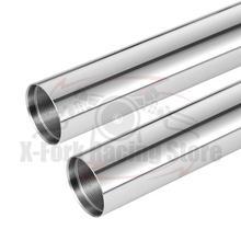 מזלג קדמי פנימי צינורות 1 כסף צינורות מוט זוג עבור ימאהה FZ6 2004 2007 2005 2006 43x590mm 5VX 23110 00