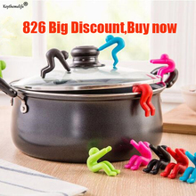 2pcs Silicone Cover Anti-overflow Kitchen Lid of The Device phone Racks Storage Holders X