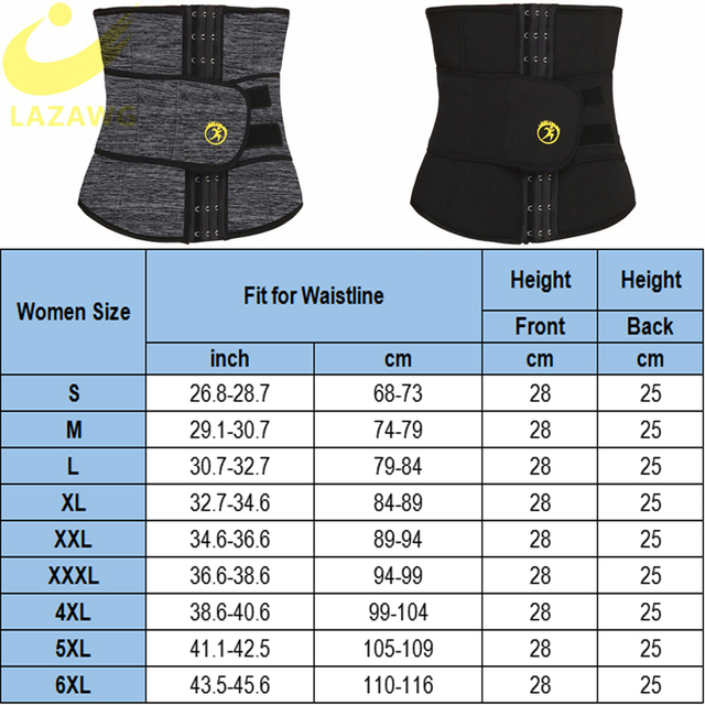 LAZAWG Women Waist Trainer Hot Thermo Sweat Neoprene Belt Waist Cincher Body Shaper Tummy Control Slimming Underwear Girdle 5