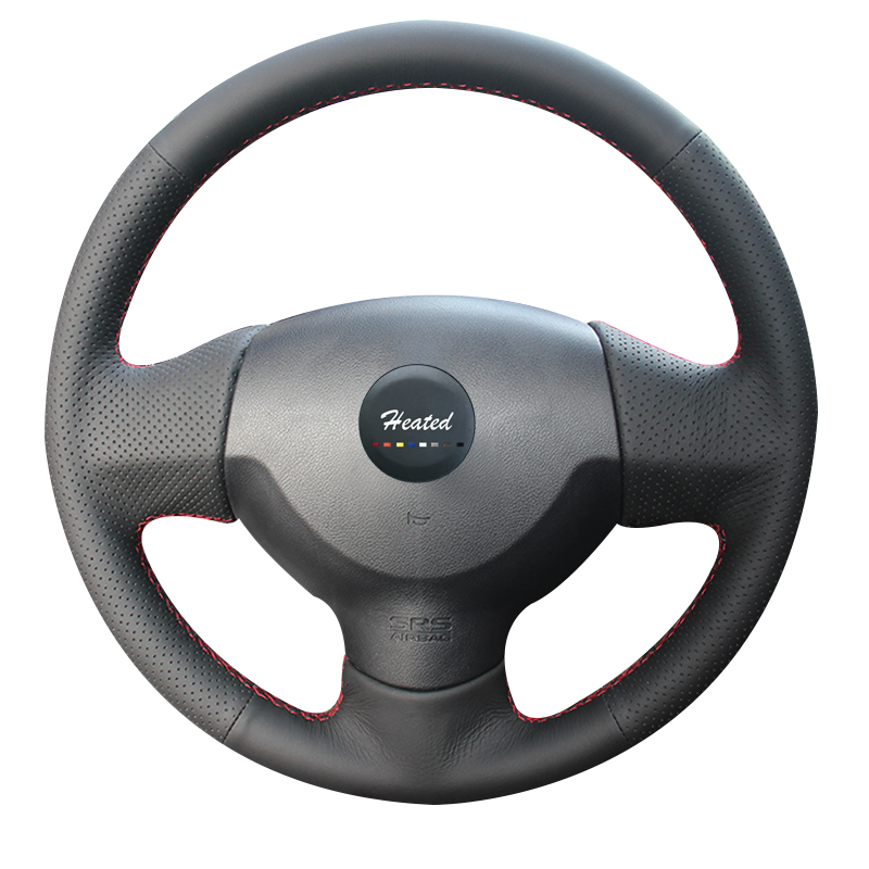 Genuine leather Steering Wheel Cover for Mitsubishi Lancer EX 10 Lancer X Outlander Braid on the steering wheel Steering Covers     -