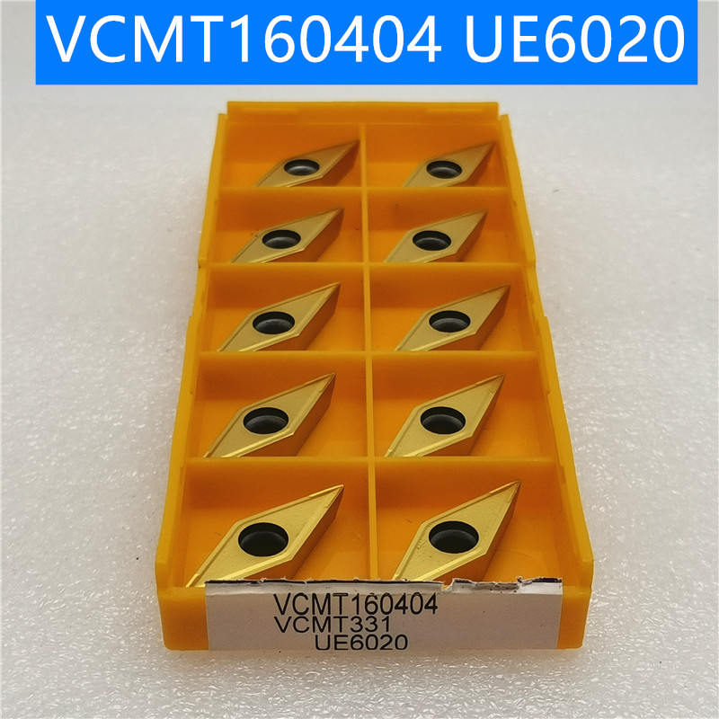 10PCS  VCMT160404 VCMT160408 MA UE6020 VP15TF External Turning Tools Carbide Insert Lathe Cutter Tool Turning Insert