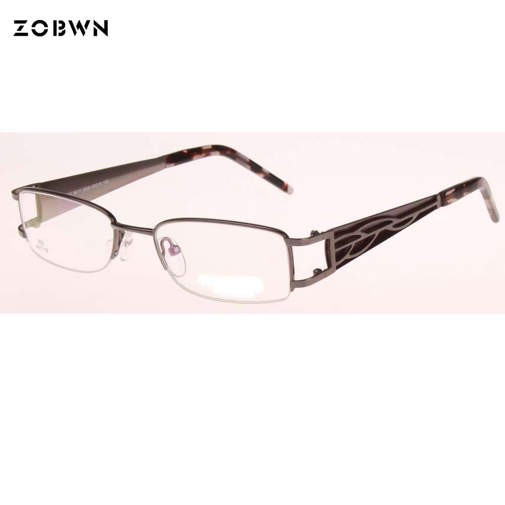 Metal half Eye Glasses Women Eyeglasses Frame Brand Female Optical Myopia Eyewear Oculos lentes opticos mujer 2020 new fashion