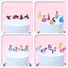 Cake Topper Princess Theme Party Supplies Cupcake Topper Birthday Party Decorations Kid Baby Shower Sofia Spiderman Cake Toppers