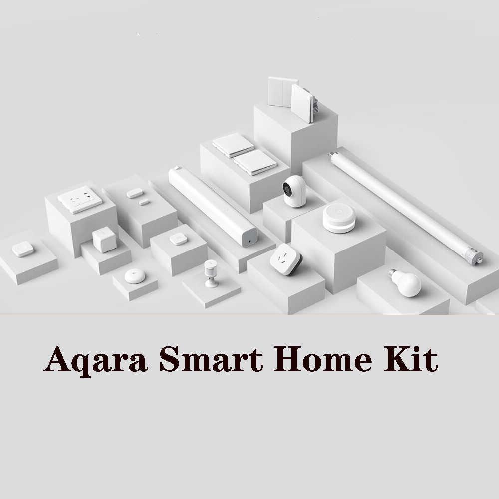 Aqara Smart HomeชุดAqara HUBประตูหน้าต่างSENSORสวิตช์ผนังHu Mi dityน้ำSENSOR 2-wayโมดูลทำงานร่วมกับMi Home