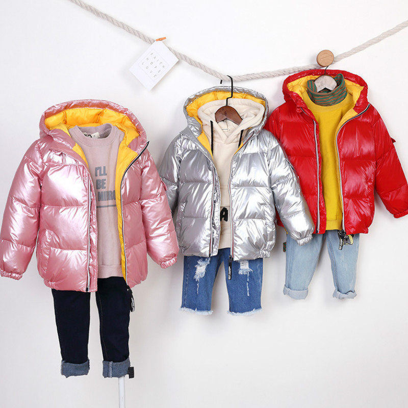 Clothing Hooded-Jacket Light Girls Boys Children's New Autumn Short Thick And Down Solid