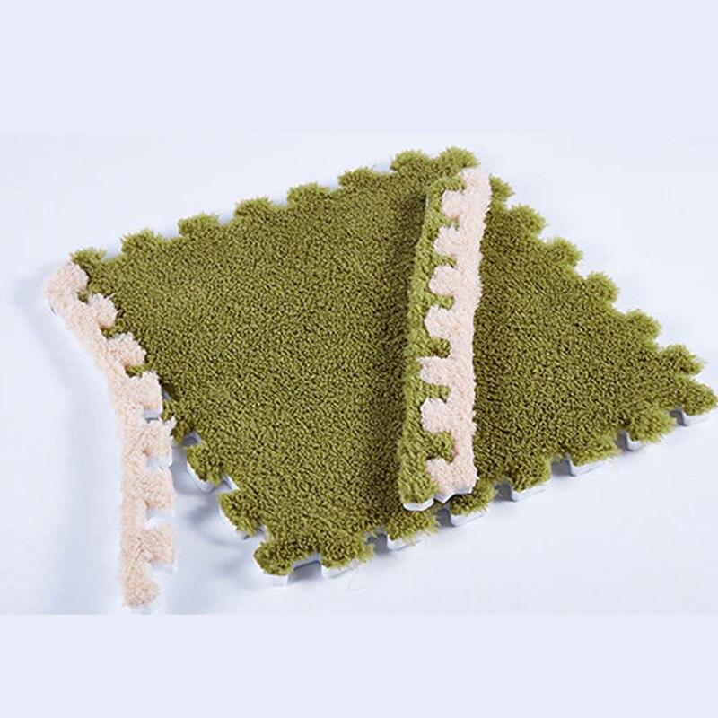 Tapis carré 30x30CM salon tapis Plaid enfants bébé tapis de jeu