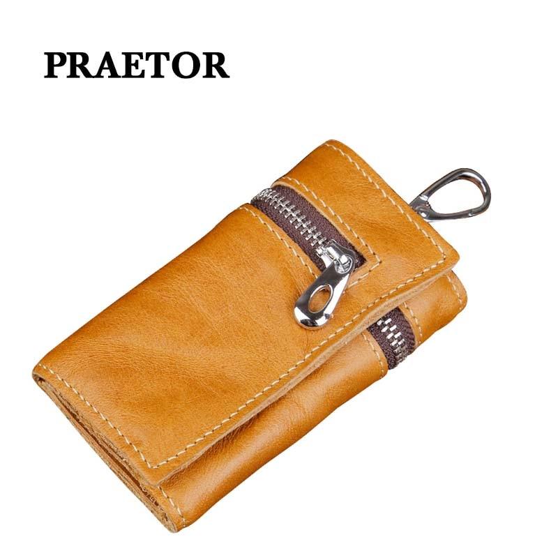 Leather Keychain Men Women Key Holder Organizer Pouch Car Wallet Card Bag Case