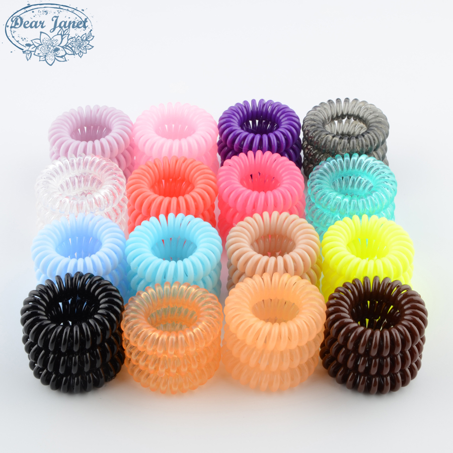 10boxes Fashion Cute Candy Color HairHeadbands  Hair Rope For Women Elastic HairBandrubber