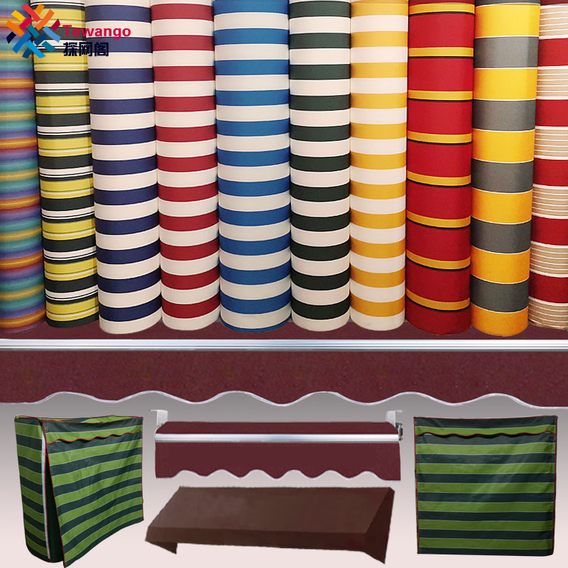 Tewango 300GSM Customized Outdoor Awning Waterproof Fabric Store Head Balcony Canopy Cover UV Block Shade Screen Rain Tarpaulin