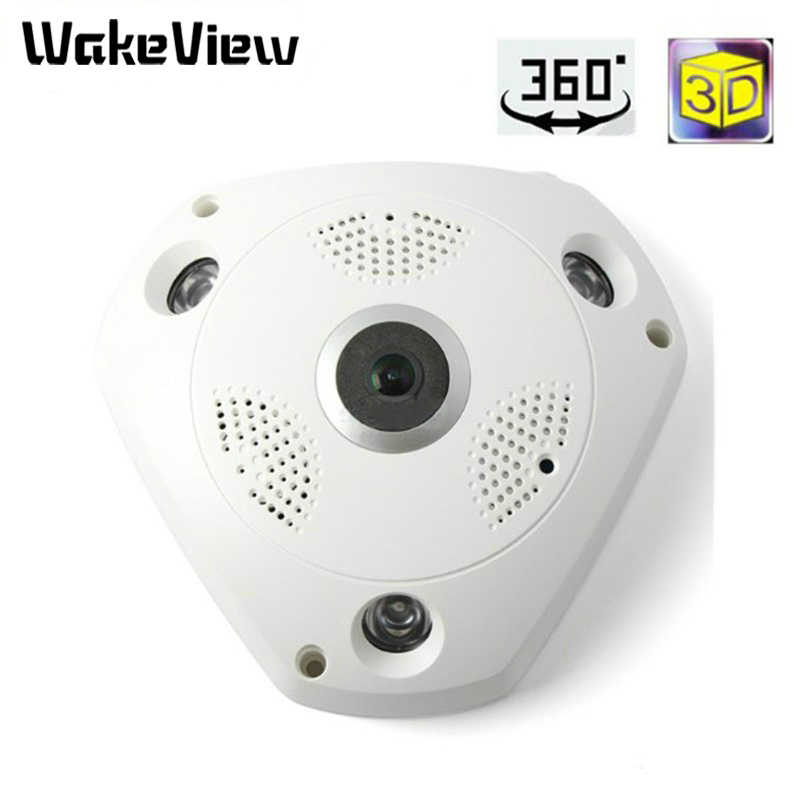 Wakeview fisheye câmera vr visão de 360 graus 2.0mp ip wifi câmera 4.0mp visão noturna infravermelha panorâmica de 360 graus câmera inteligente
