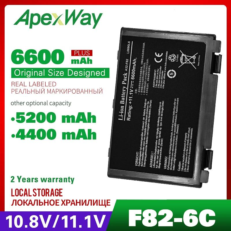 11.1v Laptop Battery For Asus K40 K40IN K50 K50IN K50IE K50IJ K60 K61 A32-F82 A32-F52 A32 F82 X8B K50in Pro8DIJ K70AS-X2A K61ic