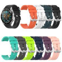 Pasek silikonowy pasek na rękę dla Huawei zegarek GT 46mm pasek Smartwatch dla Huawei zegarek GT 46mm zespoły pasek sportowy bransoletka tanie tanio choifoo CN (pochodzenie) pasek do zegarka Other Dla osób dorosłych Replace strap