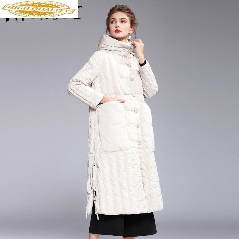 2020 New 90% White Duck Down Coat Women Korean Winter Coat Women Jacket Long Puffer Jacket Warm Parka Chaqueta Mujer 7938 YY1564
