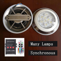 led Underwater Lamp Colorful Swimming Pool Light Ip68 Landscape Fountain Lamp Synchronous Remote Control Warm White Rgb Dc24v