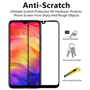 Image 2 - glass For Xiaomi redmi note 7 Full Tempered Glass screen protector For Xiaomi xiomi Redmi note7 protective Film Front touch glas