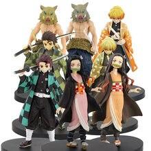 16cm japão anime demônio assassino kimetsu não yaiba kamado tanjirou nezuko pvc figura de ação guerreiro modelo figurinhas brinquedos presentes