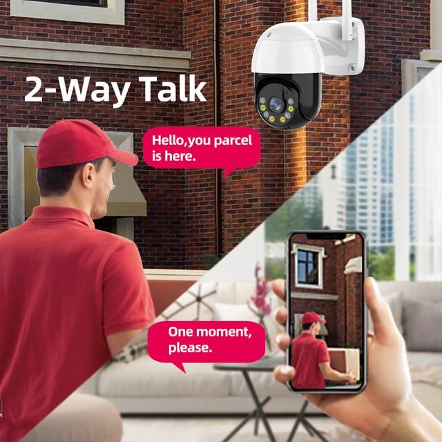 3MP PTZ WIFI IP Camera Outdoor 4X Digital Zoom Night Full Color Wireless H.265 P2P Security CCTV Camera Two Way Speak Audio 4