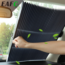 업 그레 이드 자동차 앞 유리 태양 그늘 자동 확장 자동차 커버 창 양산 UV 태양 바이저 프로텍터 커튼 46CM/65CM/70CM