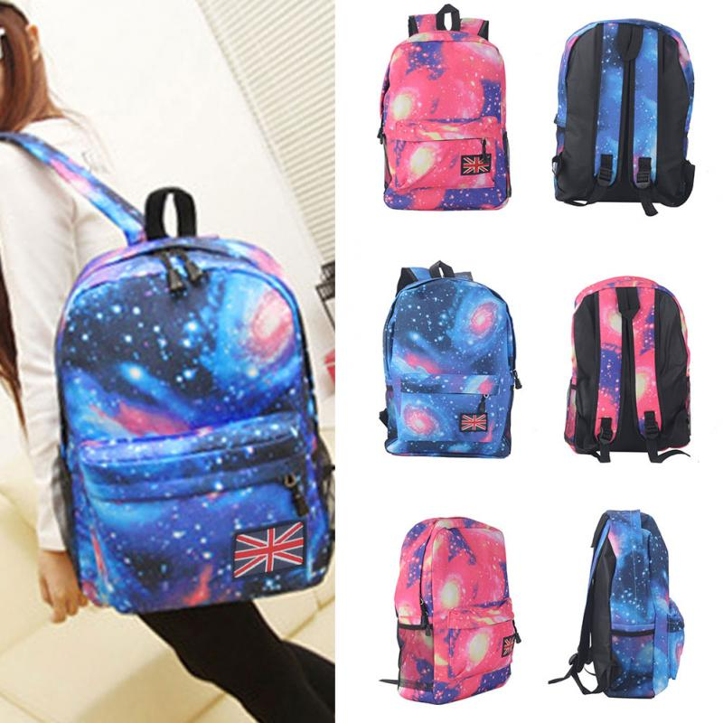 New Trendy Backpack Women Stars Universe Space Printing Backpack School Book Backpacks Bag Mochila Feminina ~